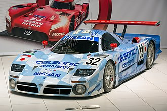 Nissan R390 GT1 - Image: Nissan R390 GT1 (1998) front left 2015 Nissan Global Headquarters Gallery