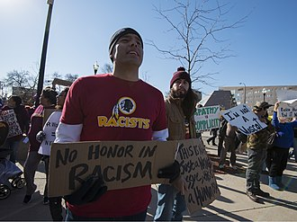 Washington Redskins name controversy - Protest against the name of the Washington Redskins