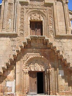 Noravank - Surb Astvatsatsin, the façade