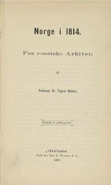 File:Norge i 1814, fra russiske arkiver.djvu