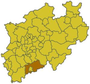 Rhein-Sieg-Kreis - Image: North rhine w su