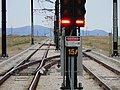 Northwest along southbound tracks from Daybreak Parkway station, Apr 16.jpg