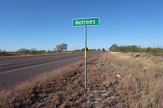 Notrees, Texas - Image: Notrees Texas Road Sign 2009