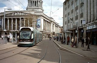 Nottingham Express Transit light-rail tramway in England