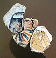 Nuovo regno, XVIII dinastia, frammento con donna a un banchetto, regno di thutmose IV o amunhotep III, 1400-1352 ac ca., da tebe, tomba 52.JPG