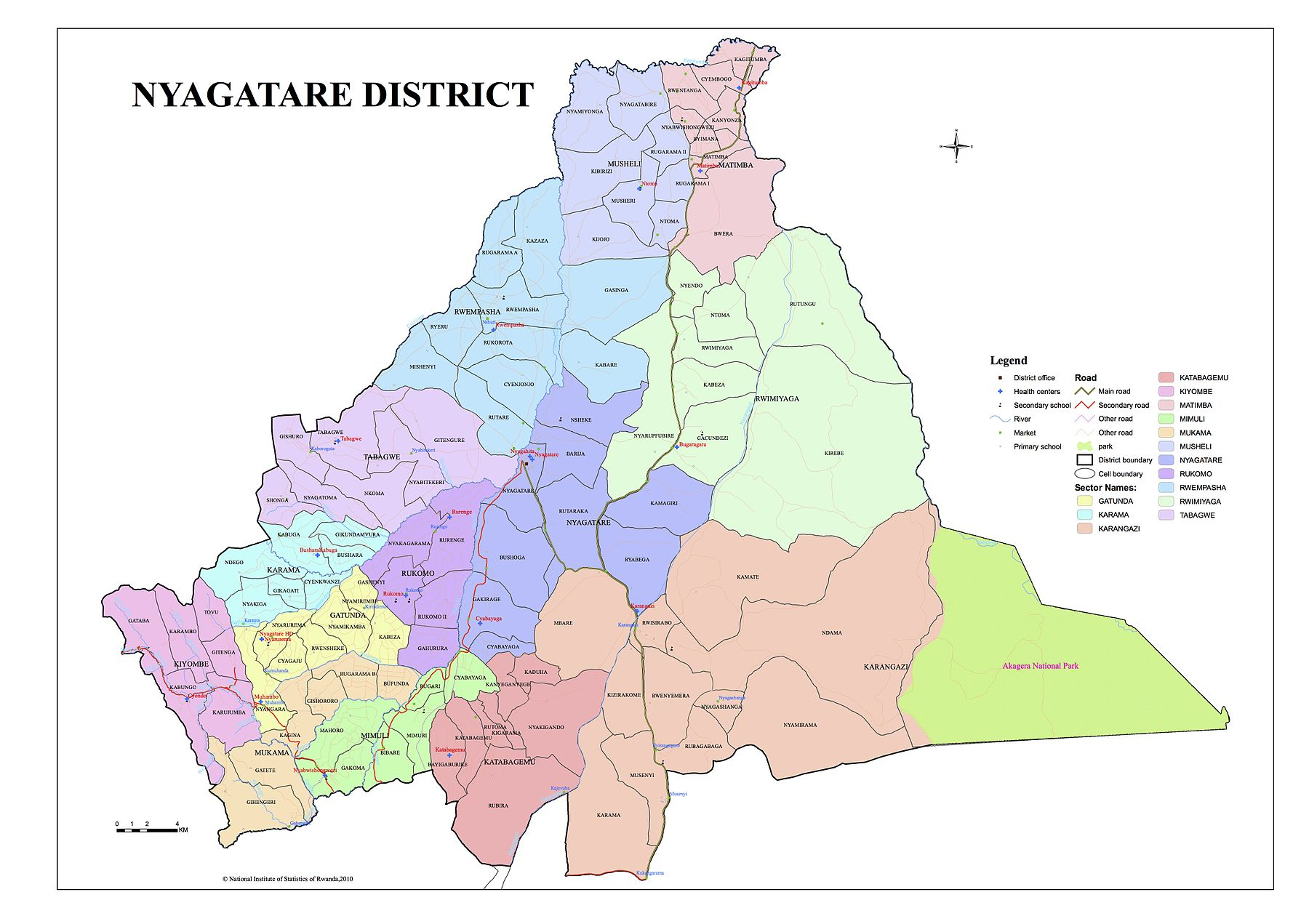 Nyagatare District Map