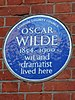 Oscar wilde 1854 1900 wit and dramatist lived here