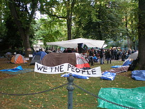 English: Occupy Portland, Day 2 (October 7, 20...