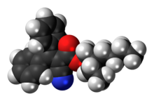 Space-filling model of octocrylene