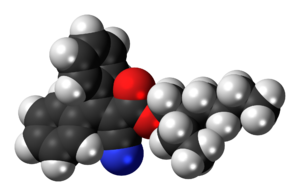 Octocrylene - Image: Octocrylene 3D spacefill