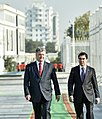 Official visit of the President to Turkmenistan 01.jpg