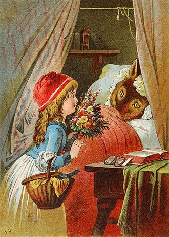 Carl Offterdinger - Illustration of Little Red Riding Hood