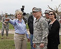 Oklahoma Gov. Mary Fallin, second from left, leads U.S. Army Gen. Frank J. Grass, right foreground, the chief of the National Guard Bureau, through the Plaza Towers Elementary School in Moore, Okla., May 28 130528-Z-VF620-4055.jpg