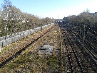 Rutherglen railway station - Image: Old Rutherglen railway station platform from Queen St bridge 2016 02 28
