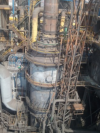 Blast furnace - Part of the gas cleaning system of a blast furnace in Monclova, Mexico. This one is about to be de-commissioned and replaced.