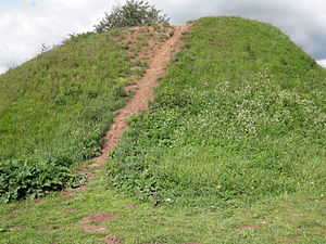 Oleg of Novgorod - The reputed burial mound for Oleg of Novgorod; Volkhov River near Staraya Ladoga.