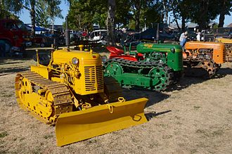 Oliver Farm Equipment Company - Three Oliver-built crawler-type tractors on display at Antique Powerland, in Oregon