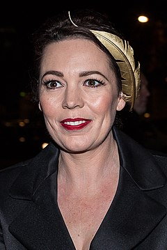 Olivia Colman won for her portrayal of Anne, Queen of Great Britain in The Favourite (2018). Olivia Colman at Moet BIFA 2014 (cropped).jpg