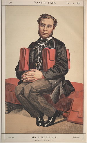 "Émile Ollivier - ""The Parliamentary Empire"". Caricature by Coïdé published in Vanity Fair in 1870."