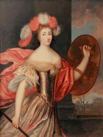 Olympia Mancini, Countess of Soissons - Portrait of Olympia Mancini depicted as the goddess Athena. Painted before 1695 by Pierre Mignard