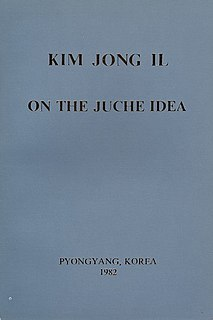 <i>On the Juche Idea</i> book by Kim Jong-il