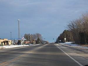 Oneida, Wisconsin - Looking west at Oneida on Wisconsin Highway 54