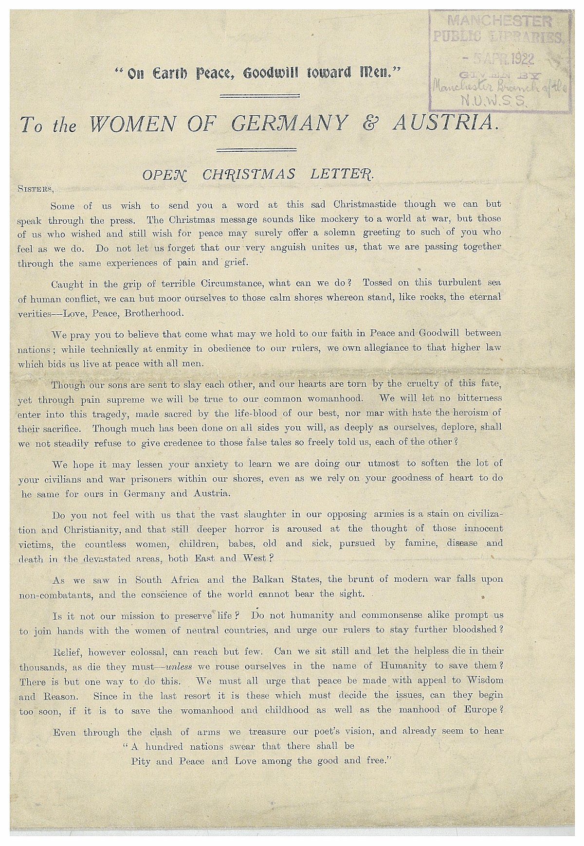 Open Christmas Letter - Wikipedia