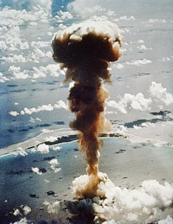 Nuclear testing at Bikini Atoll