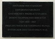 Oranienburg Runge Gedenktafel