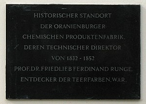 Oranienburg - Runge plaque
