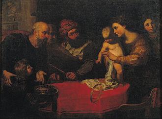Orazio de Ferrari - The Child Moses Throws down Pharaoh's Crown, Museu Nacional d'Art de Catalunya