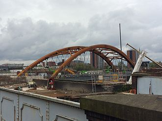 Ordsall Chord - Ordsall Chord under construction in April 2017
