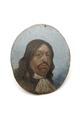 Ovalt miniatyrporträtt av Karl X Gustaf - Skoklosters slott - 92267.tif