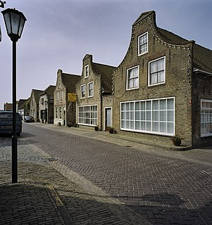 Goudswaard Village in South Holland, Netherlands