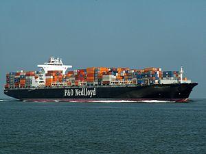 P&O Nedlloyd Manet approaching Port of Rotterdam, Holland 17-Aug-2005.jpg