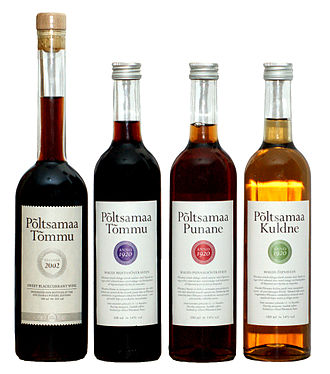 Estonian cuisine - Local wines are mainly fruit wines.