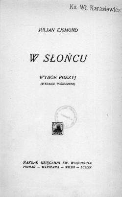 W Słońcu Ejsmondcałość Wikiźródła Wolna Biblioteka