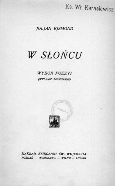 File:PL Julian Ejsmond - W słońcu.djvu