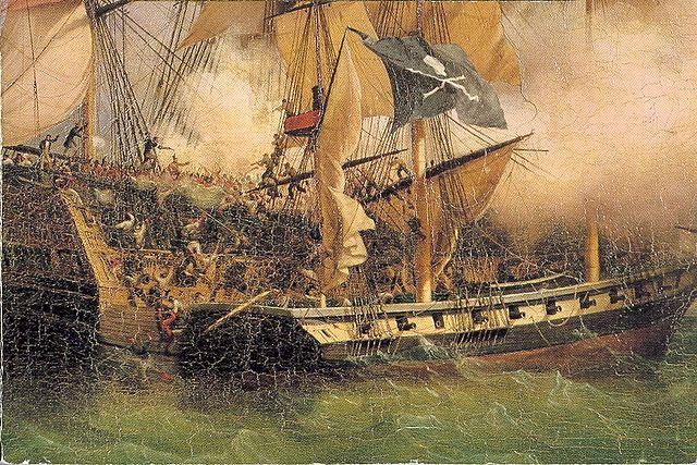 Pirates hijacking a ship