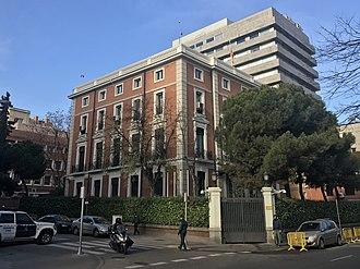 Ministry of the Interior (Spain) - Image: Palacio de los Condes de Casa Valencia, Madrid, 2017 12 22, Triplecaña 04