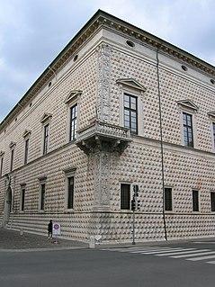 Palazzo dei Diamanti Art Gallery in Corso Ercole I dEste, Ferrara Italy