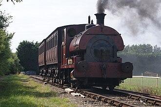 Pallot Heritage Steam Museum - A train running on the standard gauge railway.