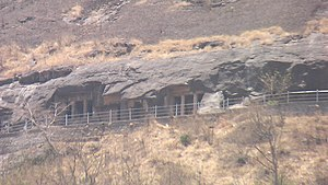 Pandavleni Caves - Part of the caves (Caves No.6 to No.8) at Pandavleni.