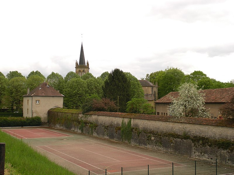View at Pange/Lorraine from the former railway station