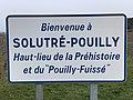 Panneau Bienvenue Solutré Pouilly Chemin Roche - Solutré-Pouilly (FR71) - 2021-03-02 - 2.jpg