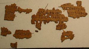 Matthew 12 - Image: Papyrus 21 recto (Mt 12,24 26)