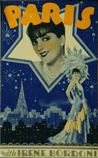 Paris (1929 film) - Theatrical Poster