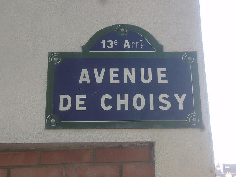 Fichier:Paris 13e - Avenue de Choisy - plaque 1.jpg