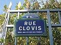 Paris 5e - rue Clovis - plaque de rue 1.JPG