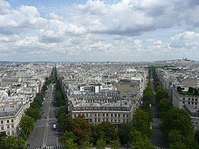 Paris View from Arc de Triomphe Wagram Hoche.jpg